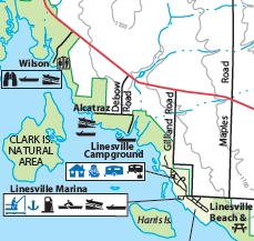 map of Linesville Campground, Pymatuning State Park